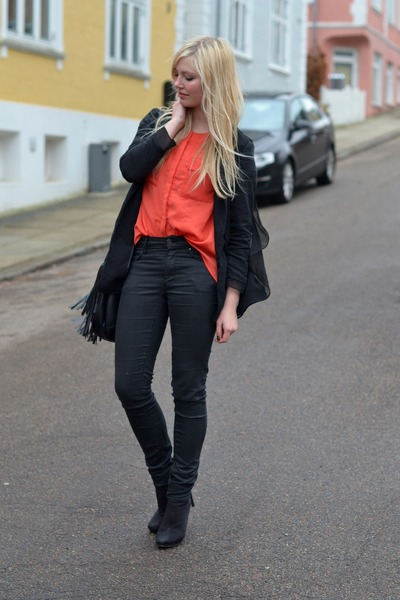 black H&M Trend blazer - carrot orange H&M Trend shirt