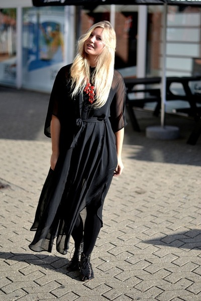 weekday dress - Topshop flats - H&M necklace