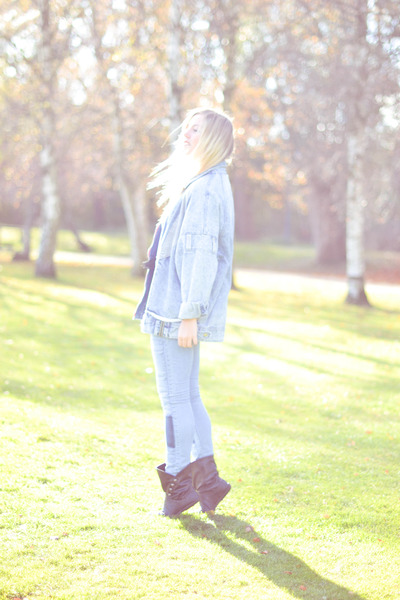 light blue denim Episode jacket - periwinkle GINA TRICOT jeans