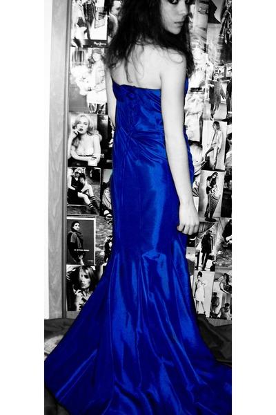 Blue Silk Blue Dress Blue Dress Dresses - &quot-SILK- BLUE DRESS&quot- by ...