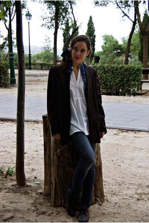 Mango jeans - Bershka shirt - el corte ingles blazer - camper shoes