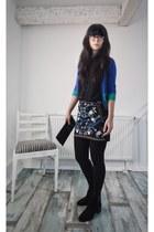 hm skirt - black hm boots - black hm shirt - black unknown purse