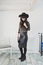 Black-h-m-boots-black-h-m-hat-black-unknown-purse-black-reserved-skirt