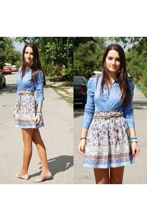 Zara skirt - Stradivarius shirt