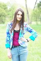 Pimkie jeans - aquamarine Oggi blazer - black Pierre Cardin watch