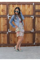 jean Fire Los Angeles jacket - Kate Spade New York heels
