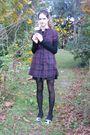 Converse-dress-chanel-shoes-betsey-johnson-tights-billabong-skirt