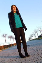New Yorker boots - Vila jacket - c&a sweater - H&M pants - Katherine necklace
