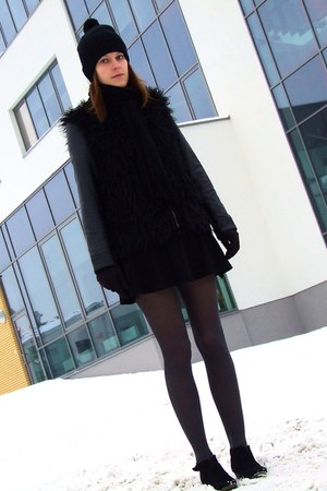 F&F scarf - New Yorker boots - New Yorker hat - Vila jacket - conte tights
