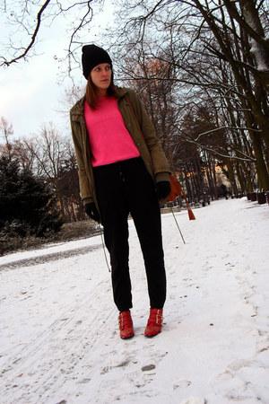 SequinShoes boots - allegro hat - Vila jacket - second-hand sweater