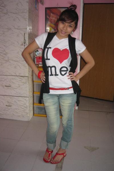shirt - vest - shoes - belt - pants - accessories