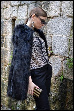 Zara coat - new look shirt - Stradivarius bag - Zara pants - D&G accessories