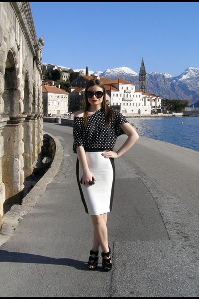 Zara skirt - Aldo bag - Zara t-shirt - Prada glasses
