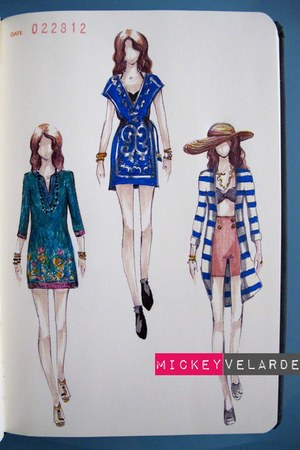 blue kaftan dress