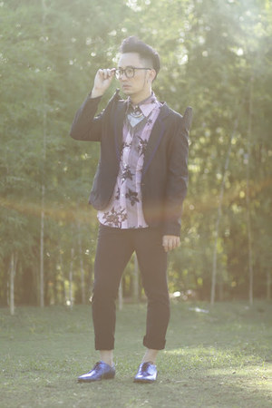 navy Deisel shirt - blue H&M shoes - navy Ronnie YU suit