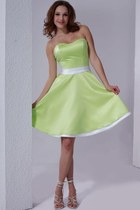 strapless satin milanoo dress