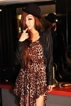 leopard print 7e-fashion dress