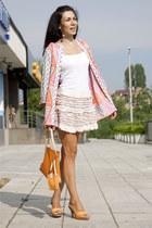 cotton Zara skirt - graphic motiv H&M cardigan