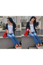 hollister jeans - Sisley blazer - Zara flats