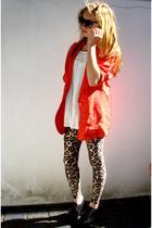 vintage blazer - vintage dress - vintage leggings - vintage shoes