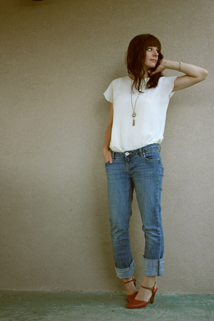 garage jeans - blouse - shoes