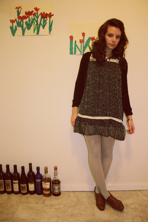 H&amp;M sweater - dress - aa tights - Amalfi shoes