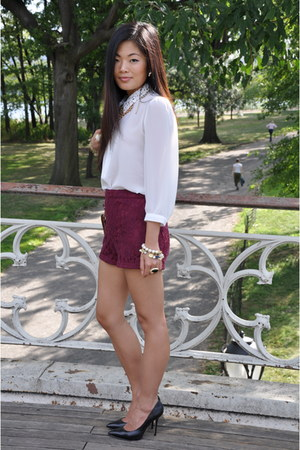 crimson melie bianco bag - brick red burgandy Forever21 shorts