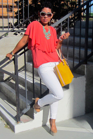 Forever 21 jeans - Michael Kors bag - Wild Pair pumps - Forever 21 necklace