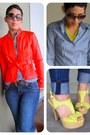 White-diy-top-navy-forever-21-jeans-red-ny-co-jacket