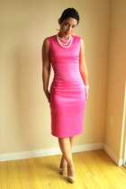 hot pink DIY dress - neutral Steve Madden pumps