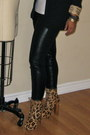 Black-black-blazer-forever-21-blazer-white-leopard-boots-steve-madden-boots