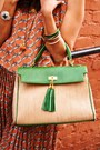 Coral-rope-print-everly-dress-green-aldo-purse