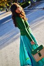 Green-zara-sweater-aquamarine-maxi-as-skirt-h-m-dress-green-aldo-purse