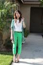 Chartreuse-bcbg-jeans-white-vintage-blouse