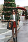 Green-suede-aldo-boots-olive-green-vintage-michael-kors-blazer