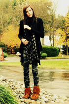 scarf - sweater - jeans - boots