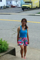 blue hollister skirt - turquoise blue shirt