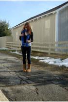 blue One Warm Scarf scarf