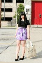 amethyst thrifted skirt - black H&M shirt - neutral Daisy by Marc Jacobs bag