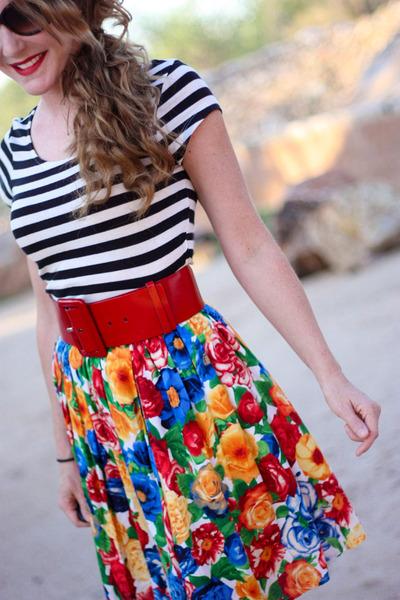 modcloth dress - H&M top