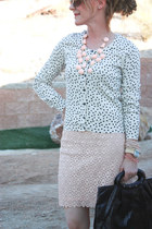 H&M necklace - f21 skirt - H&M cardigan