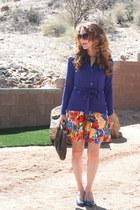 worn as skirt modcloth dress - steinmart cardigan - Nine West wedges