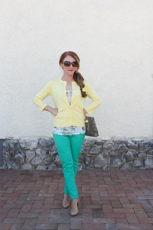 Jessica Simpson pumps - cutout clutch The Limited bag