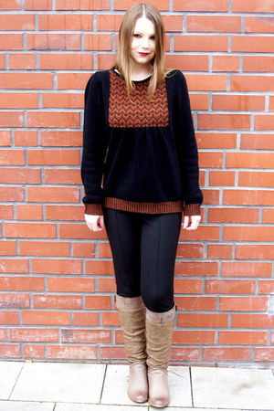 black pattern Camilla Norrback sweater - black Sarah Kern leggings