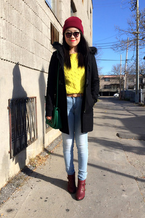 yellow JCrew sweater