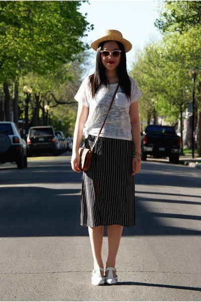 white Top Shop shoes - black Urban Outfitters dress - yellow H&M hat
