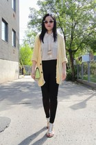 light yellow Urban Outfitters cardigan