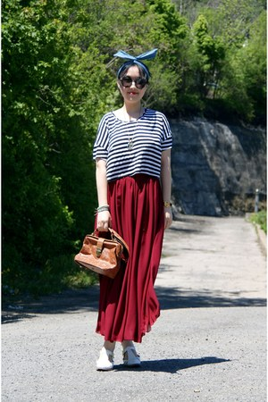 ruby red American Apparel skirt