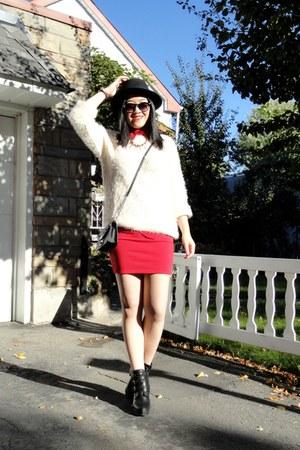 red Forever21 skirt