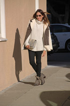 Zara jacket - Jeffrey Campbell boots - J Brand jeans - H&M sweater